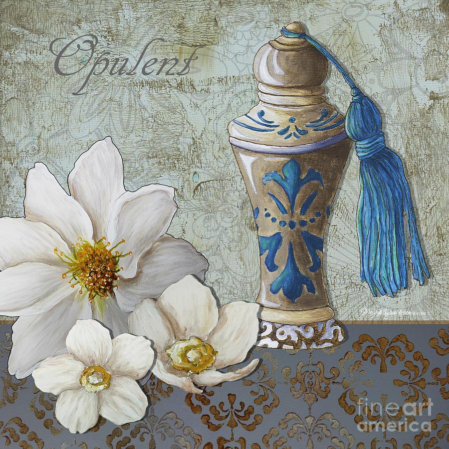 Bath Bathroom Art Flower Perfume Bottle Painting Opulenct Painting