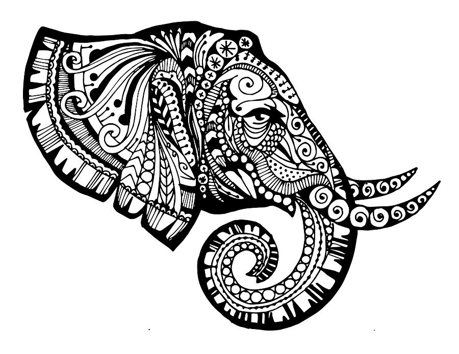 Pagine Da Colorare Per Animali Tribali: African Tribal Patterns Coloring Page