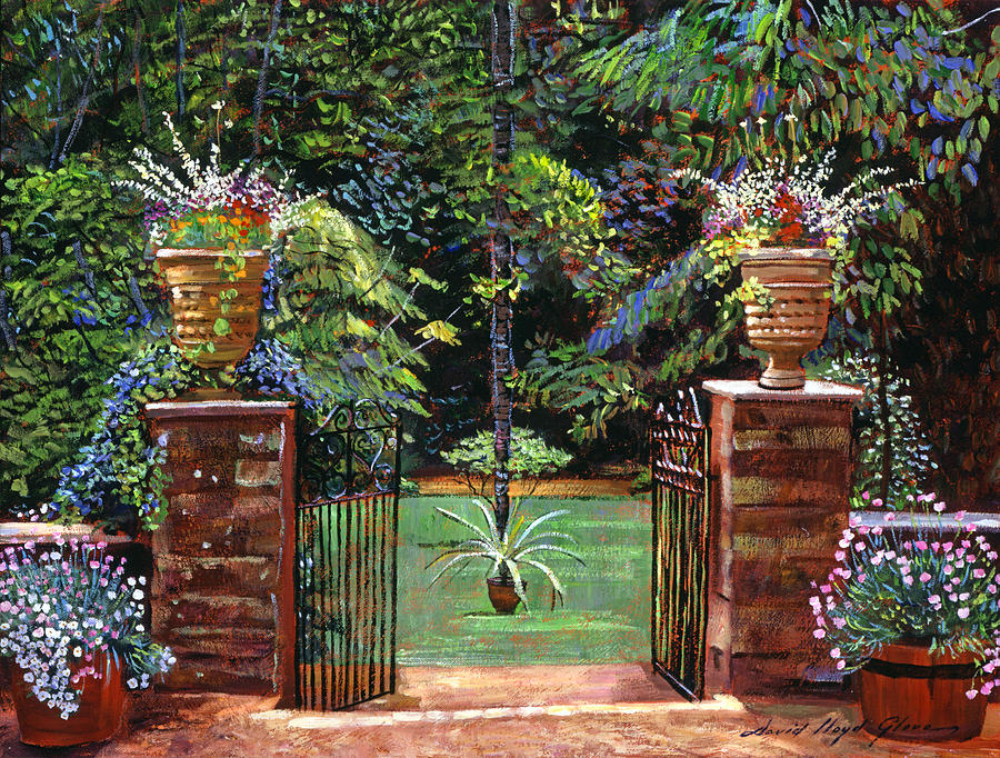 Gardens Painting - Elegant English Garden by David Lloyd Glover