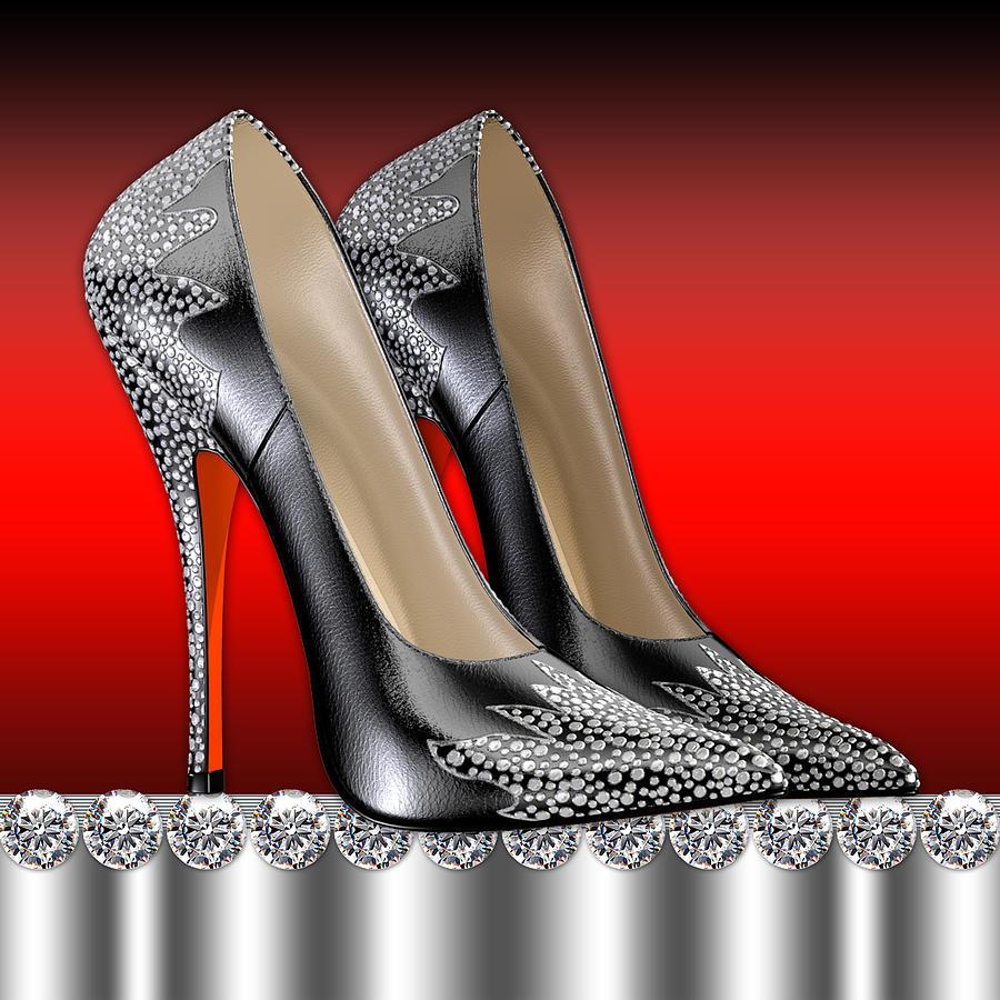 elegant high heel shoes digital art by legend imaging. Black Bedroom Furniture Sets. Home Design Ideas