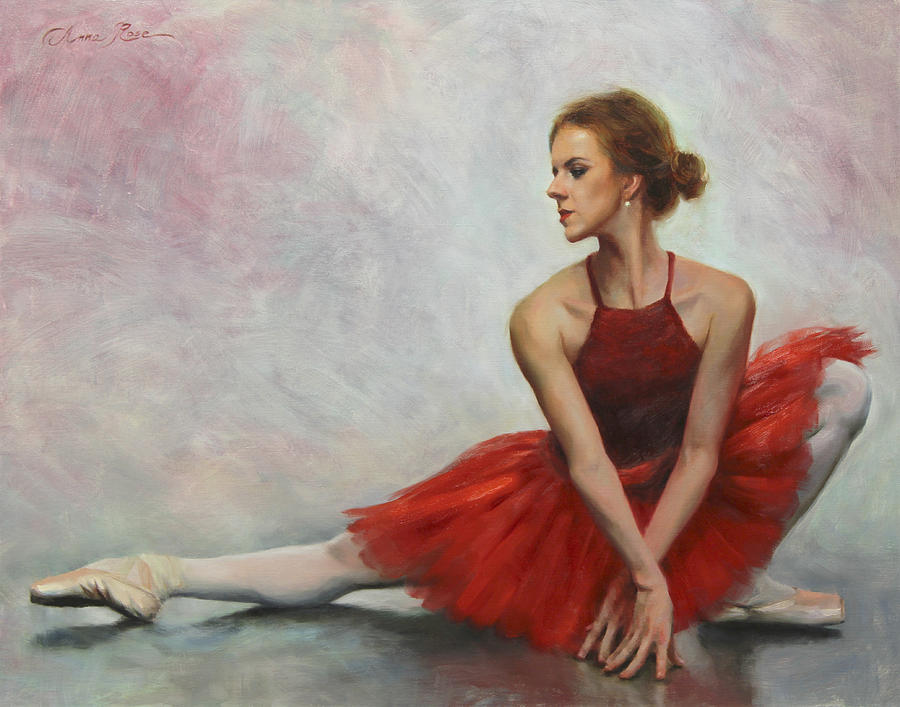 Dance Painting - Elegant Lines by Anna Rose Bain
