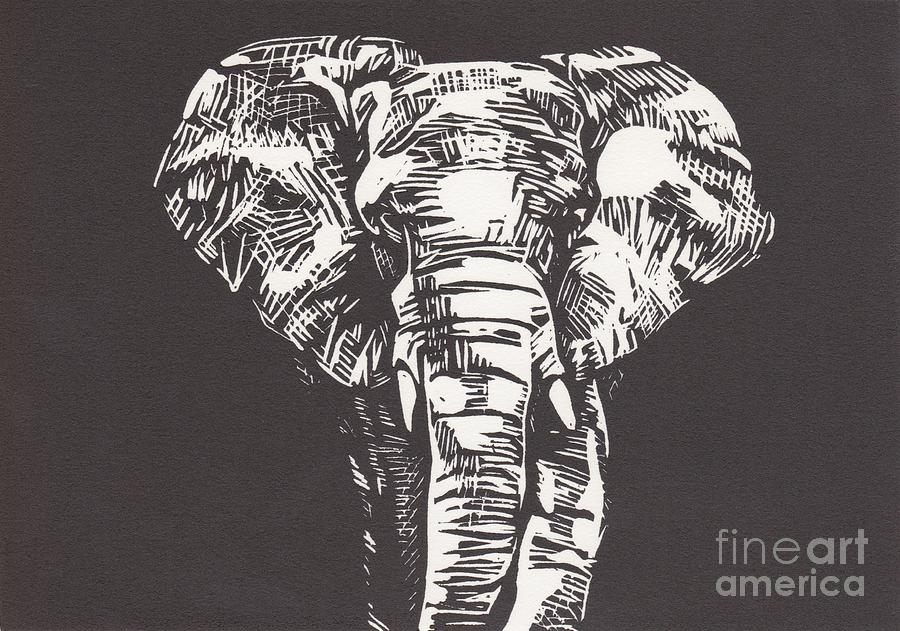 Elephant Mixed Media  - Elephant Fine Art Print