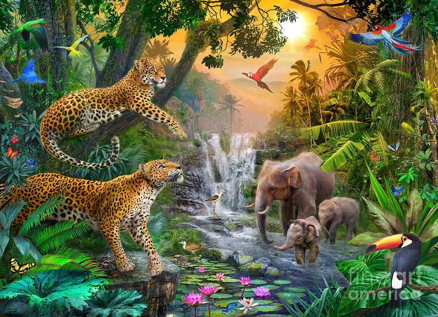 Elephant Falls Digital Art