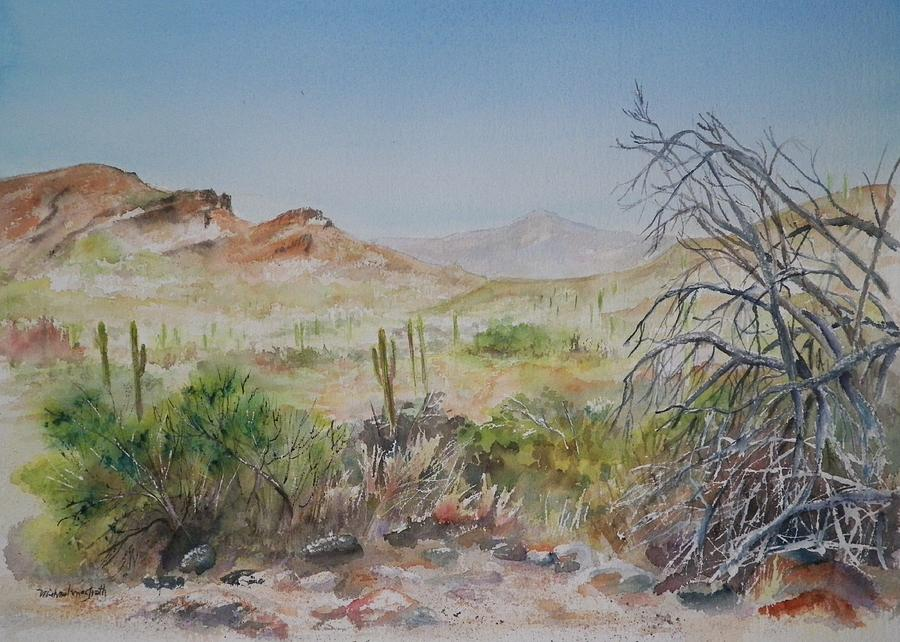 Elephant Mountain From Dragonfly Trail Painting