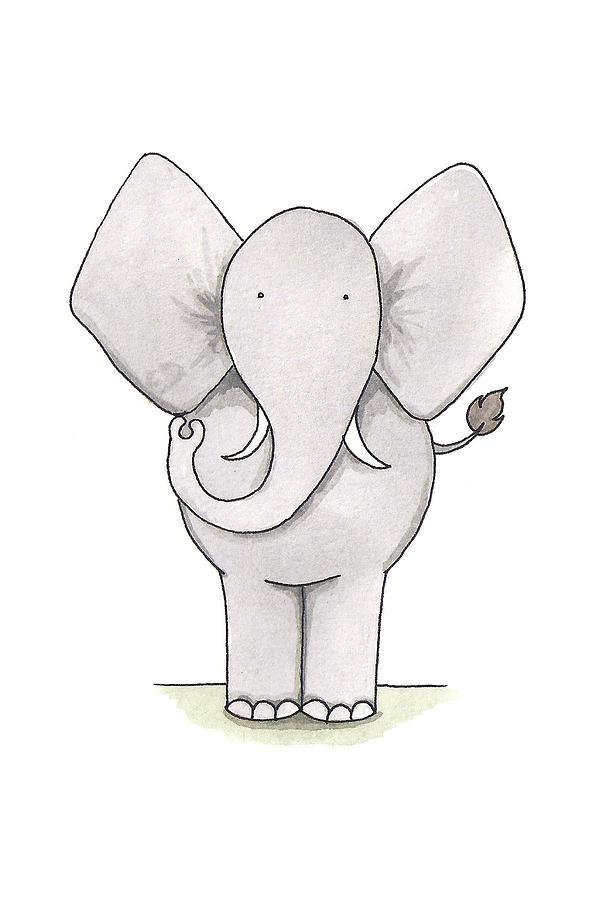 Elephant Painting - Elephant Nursery Art by Christy Beckwith