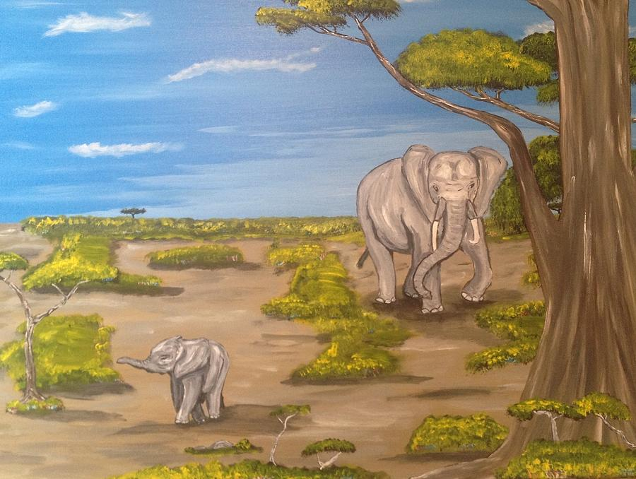 Elephants Painting  - Elephants Fine Art Print
