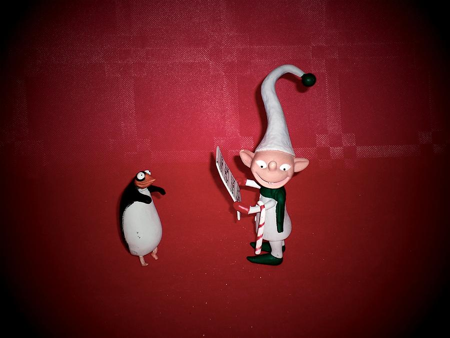 Elf And Penguin From The Movie The Nightmare Before