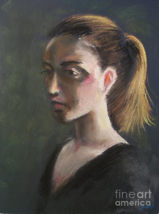 Elisa    Live Model Painting  Pastel