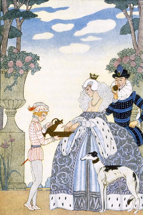 Stencil Painting - Elizabethan England by Georges Barbier