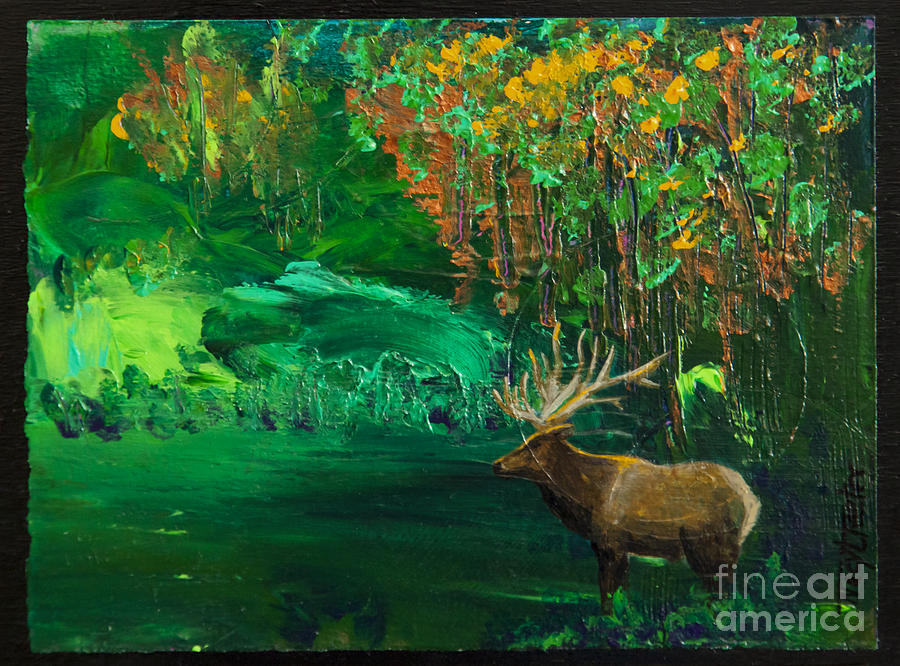 Elk Fall Painting