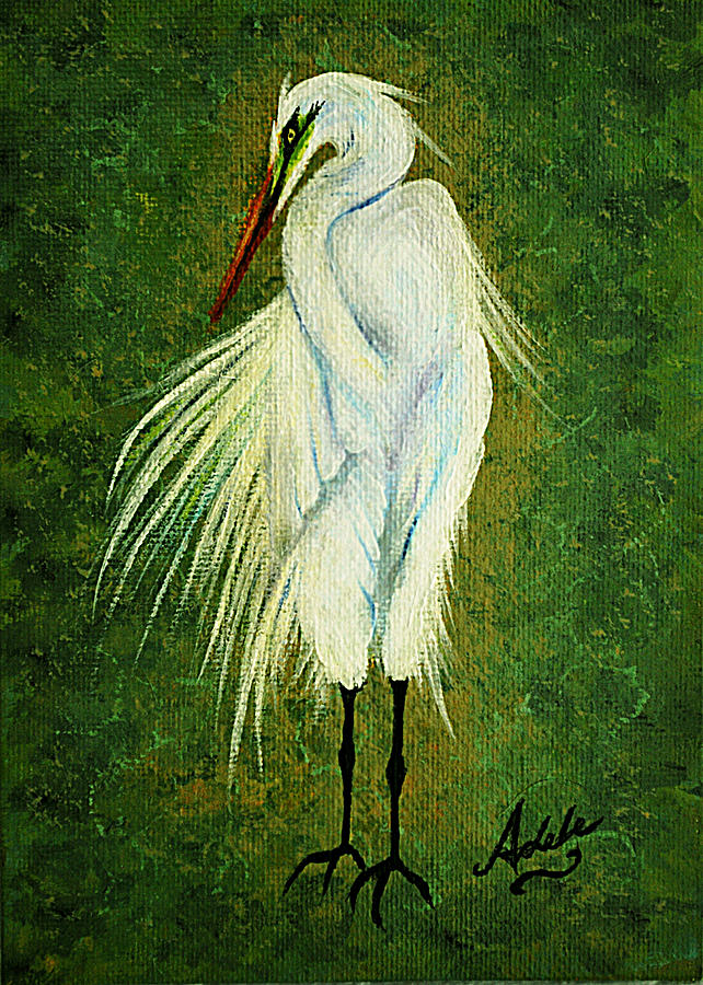 Ellie Egret Painting