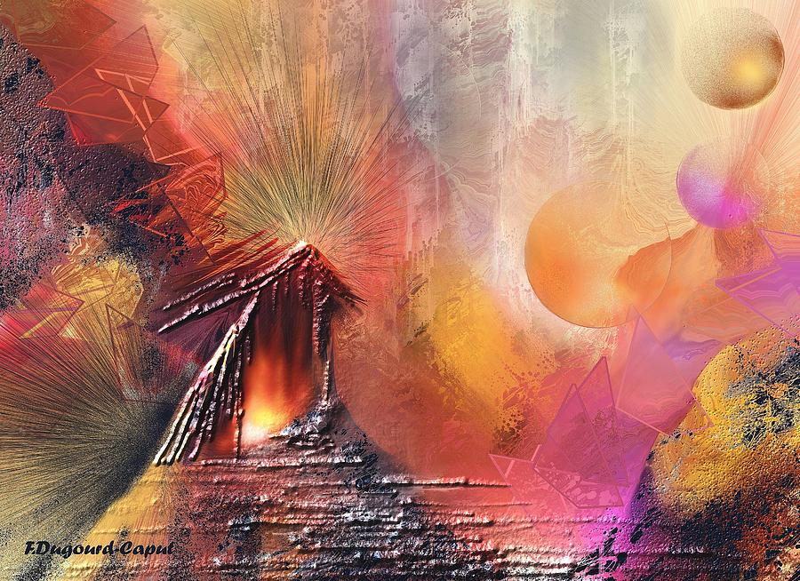 Abstract Painting - Elonia by Francoise Dugourd-Caput