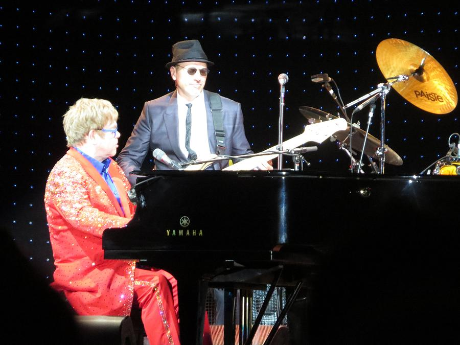 Elton Plays The Blues In Macon Ga Photograph