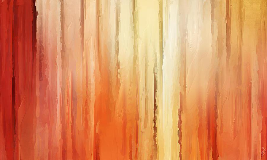 Orange Painting - Elusive View by Lourry Legarde