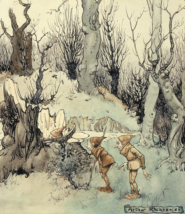Elves In A Wood Painting