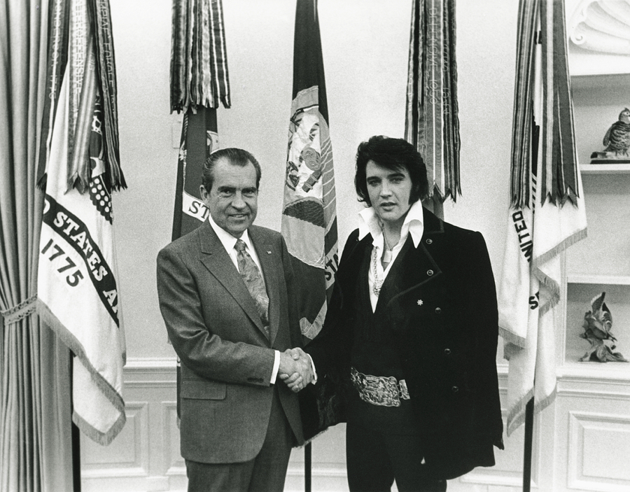 Elvis And Nixon Digital Art