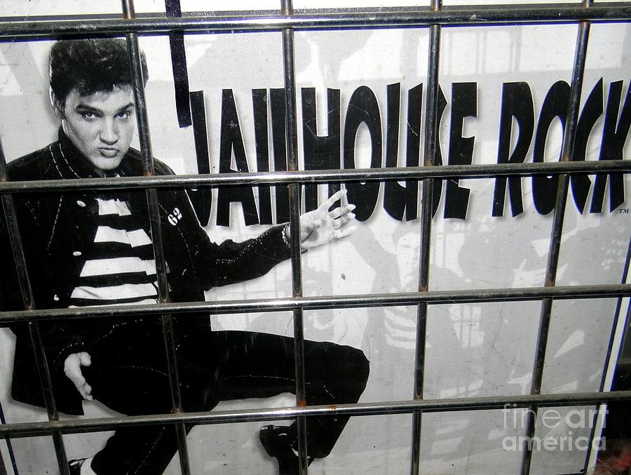 Elvis Behind Bars Photograph