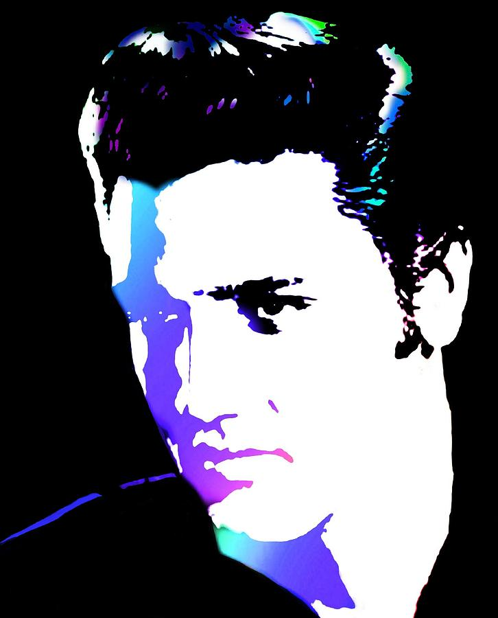 Elvis Digital Art  - Elvis Fine Art Print