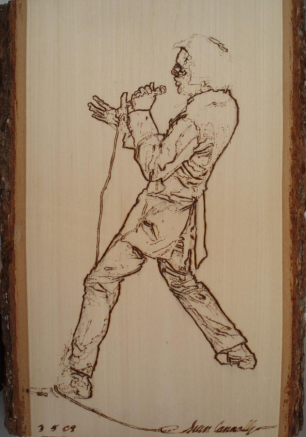 Elvis Presley - If I Can Dream Pyrography  - Elvis Presley - If I Can Dream Fine Art Print