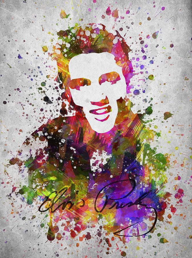 Elvis Presley In Color Drawing