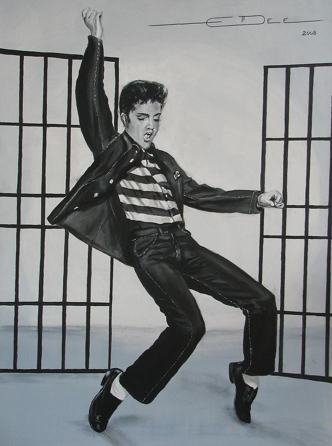 Elvis Presley Jailhouse Rock Painting  - Elvis Presley Jailhouse Rock Fine Art Print