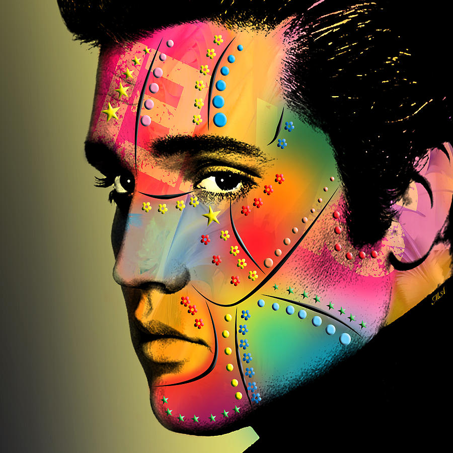 Elvis Presley Digital Art  - Elvis Presley Fine Art Print