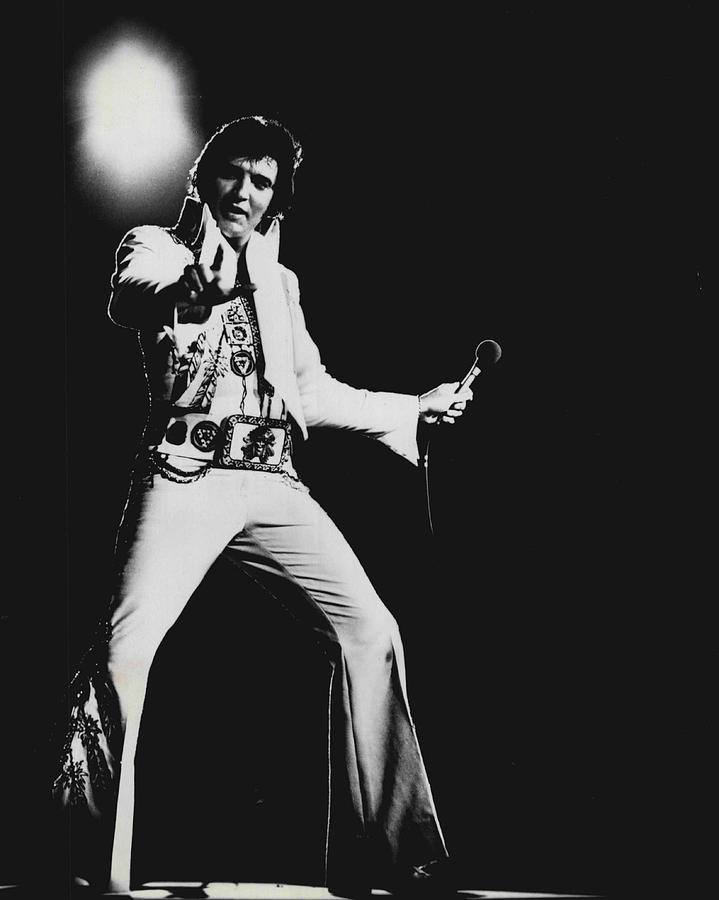 Classic Photograph - Elvis Presley On Stage by Retro Images Archive