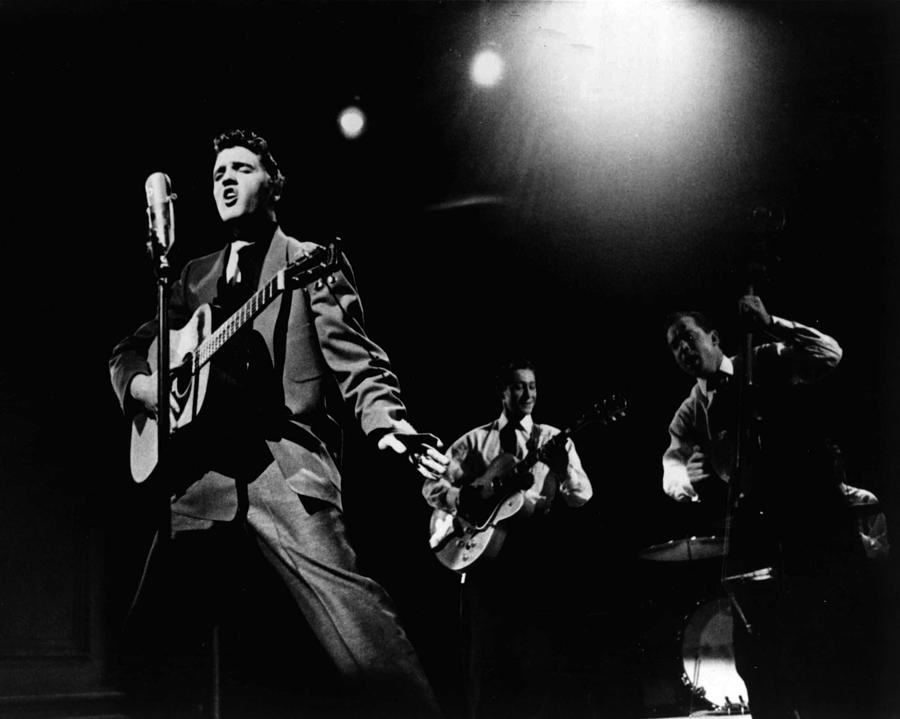 Elvis Presley Playing Hard  Photograph