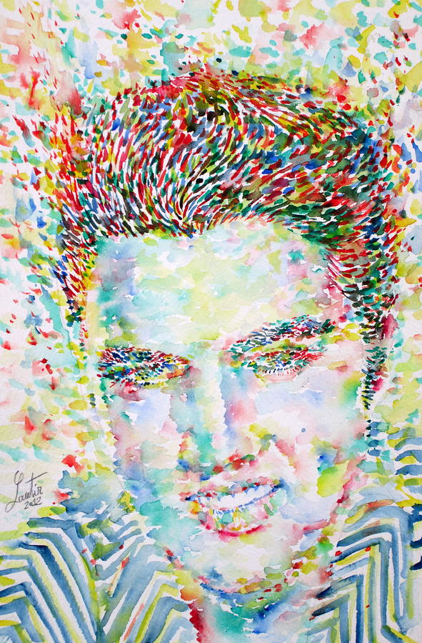 Elvis Presley Watercolor Portrait Painting  - Elvis Presley Watercolor Portrait Fine Art Print