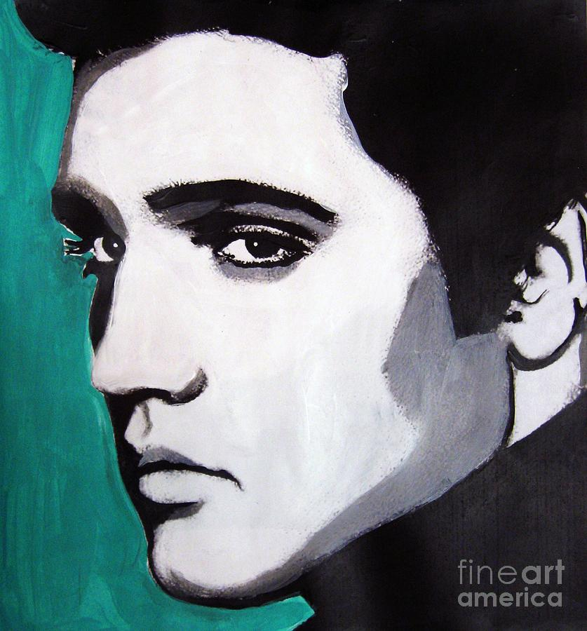 Modern Painting - Elvis by Venus