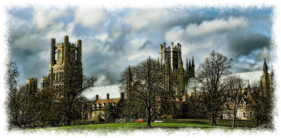 Ely Cathedral In Watercolors Photograph