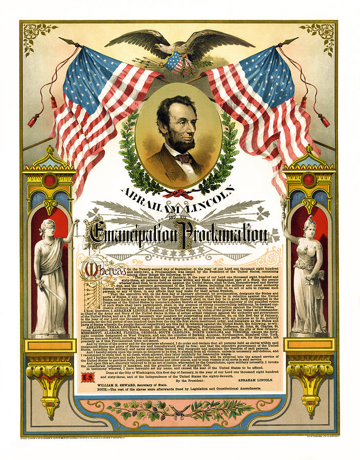 Emancipation Proclamation Tribute 1888 Photograph