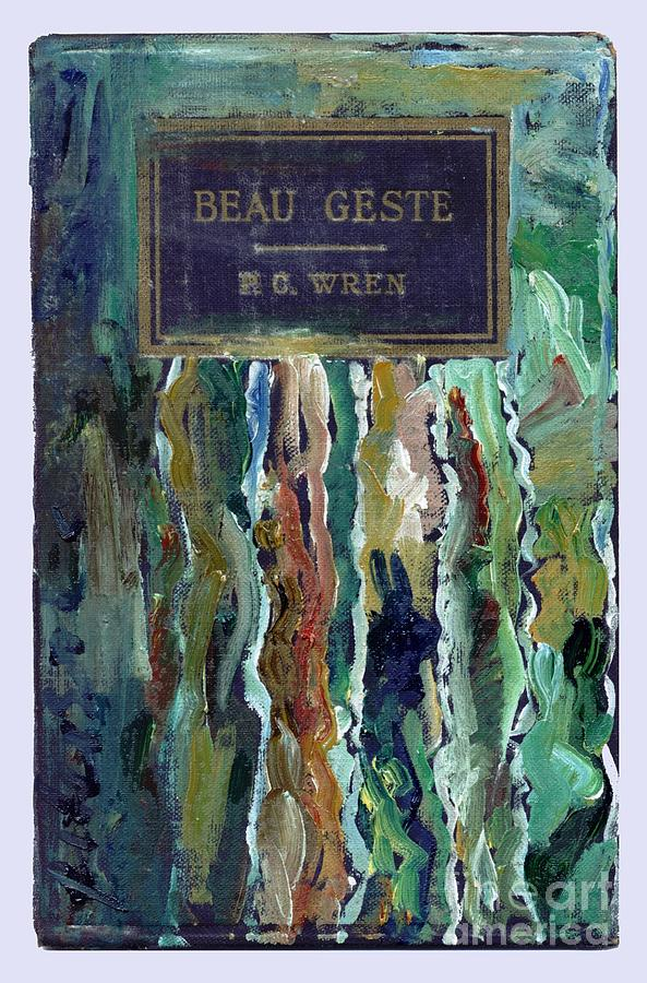 Book Cover Watercolor Artist : Embellished book cover beau geste painting by cathy peterson