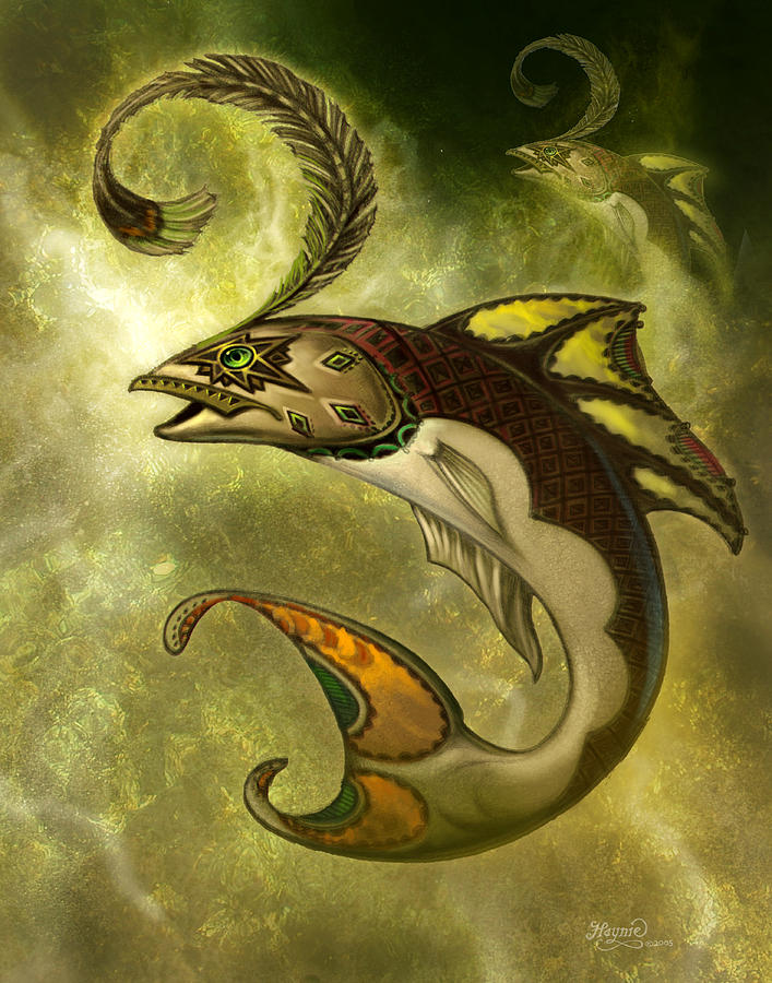 Fish Painting - Emerald Fish by Jeff Haynie