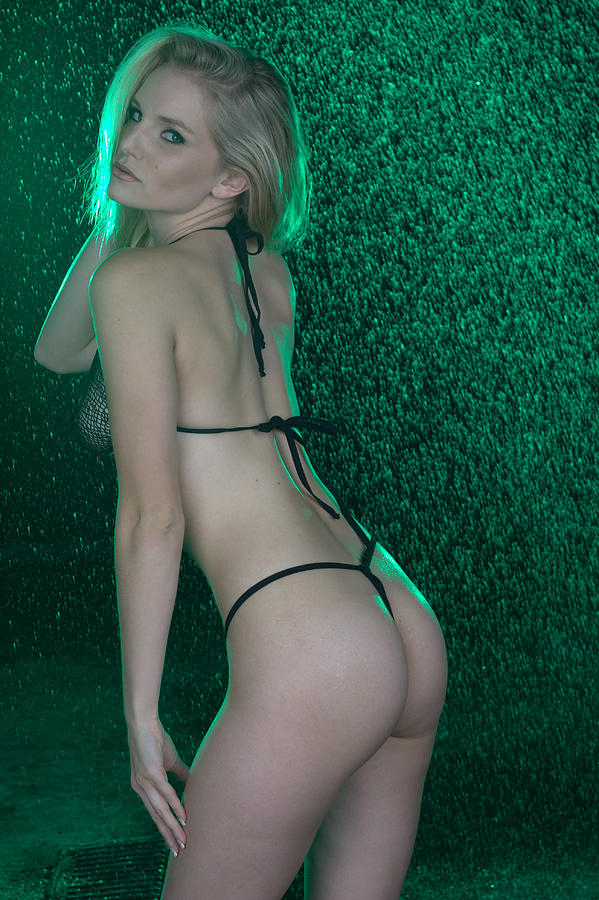 Emerald Spray And Thong Photograph