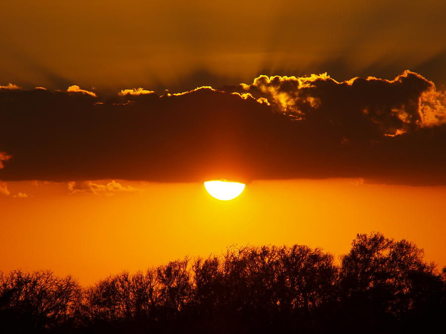 Sunset Photo Photograph - Emergence Of A Golden Sun by James Granberry