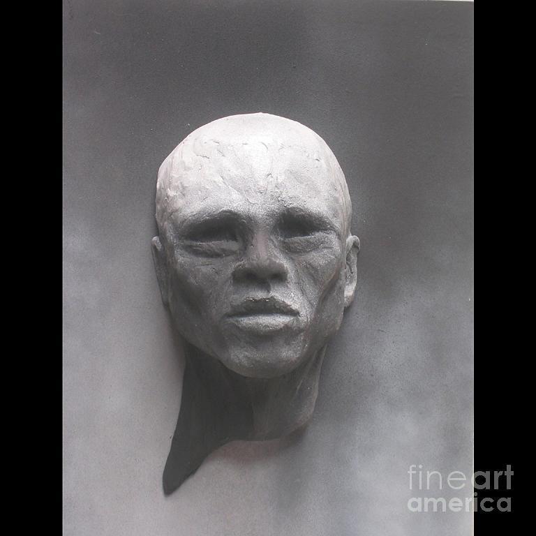 Bronze Portrait Sculpture Sculpture - Emerging Man by Tomi LaPierre