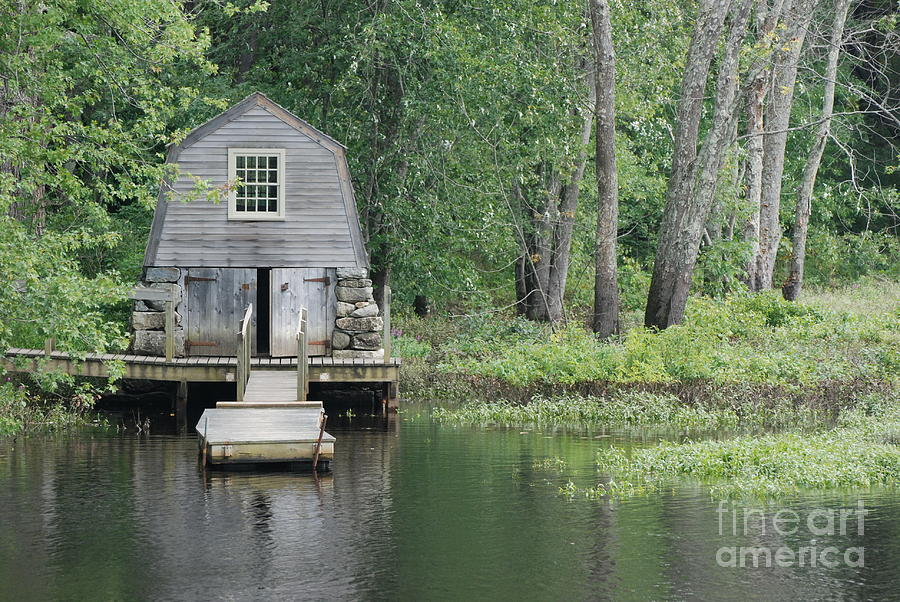 Emerson Boathouse Concord Massachusetts Photograph