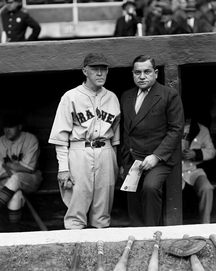 Emil E. Fuchs With Johnny Evers Photograph