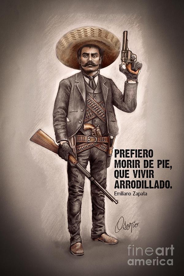 Emiliano Zapata Drawing By Claudio Osorio