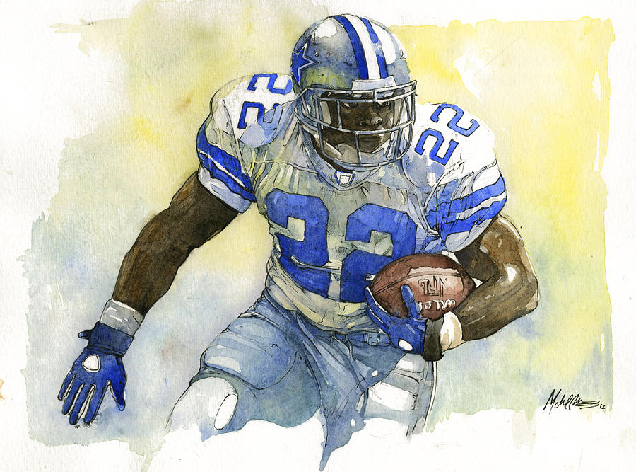 Emmitt Painting - Emmitt Smith by Michael  Pattison