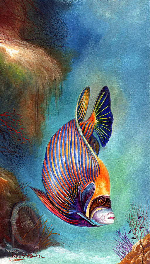 Emperor Angel Fish Painting by - 146.8KB