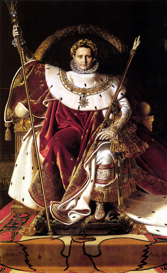 Emperor Napoleon I On His Imperial Throne Painting