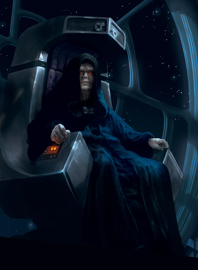 Emperor Palpatine Digital Art By Ryan Barger