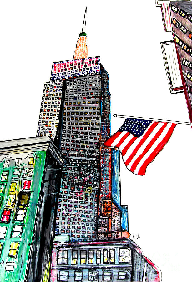 Empire State Anvenue Painting  - Empire State Anvenue Fine Art Print