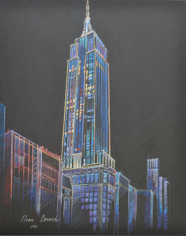 Empire State Building Painting by Elena Broach