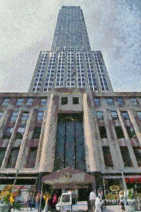 Empire State Building Painting by George Atsametakis