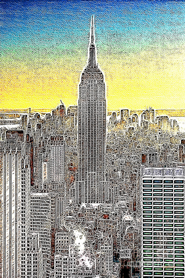 Empire State Building Photograph - Empire State Building New York City 20130425 by Wingsdomain Art and Photography