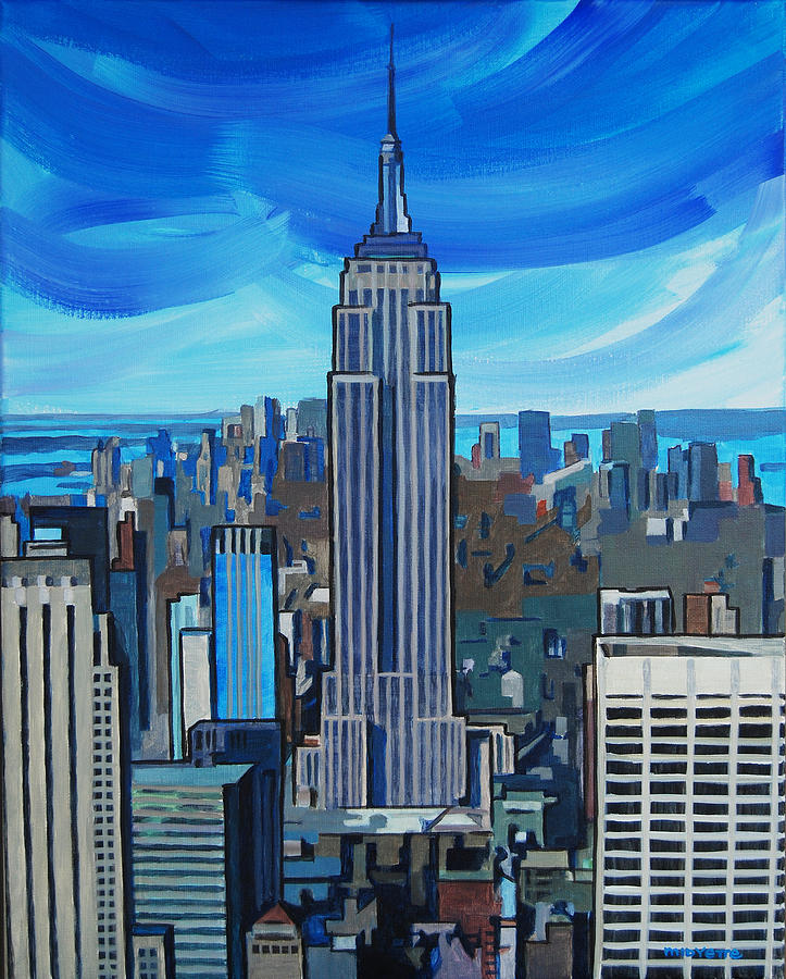 Empire State Building Painting by Tommy Midyette