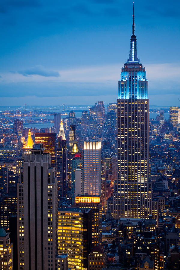 Empire State By Night Photograph  - Empire State By Night Fine Art Print